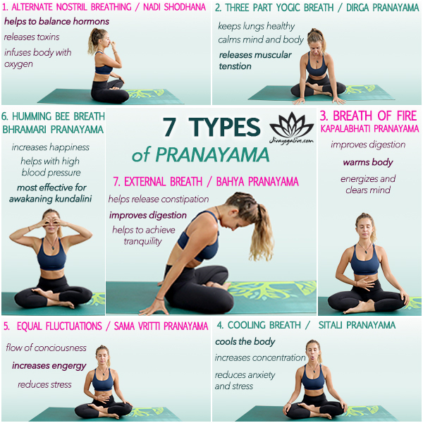 7 types of pranayama Infographic CH1029