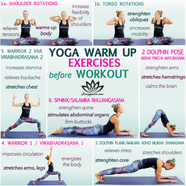yoga warm up exercises before workout infographic_SL103-1