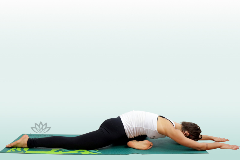 One-Legged King Pigeon Pose forward Bend Variation - Eka Pada Kapotasana