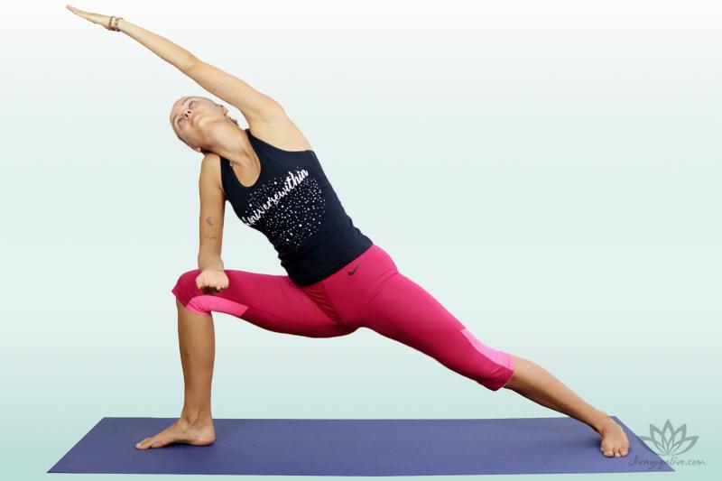 Revolved Side Angle pose - Parivrtta Parsvakonasana