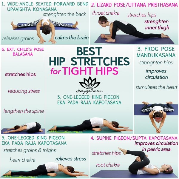 best hip stretches for tight hips_