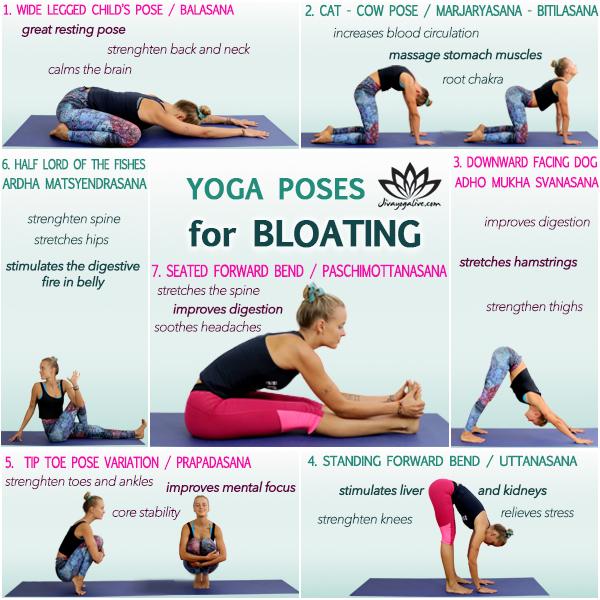 7 Awesome Yoga Poses For Bloating Relief Jivayogalive