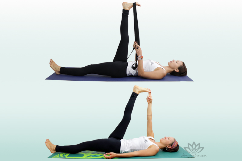 Reclining Hand to big toe Pose - Supta Padangusthasana