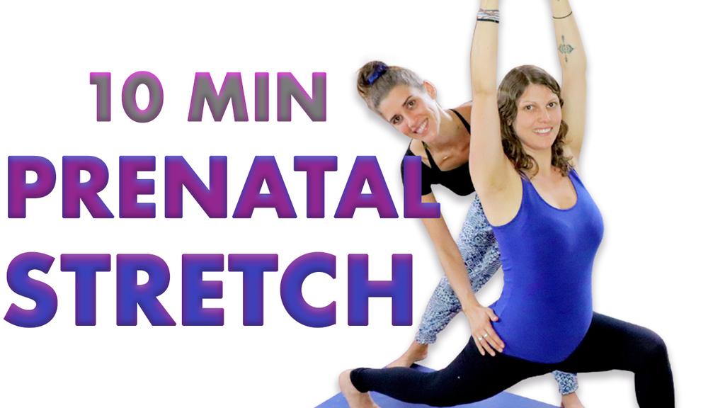 10 minute prenatal stretch