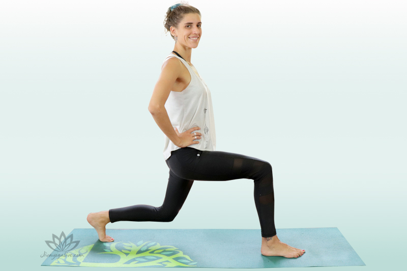 High Lunge with Knee drop - Alanasana