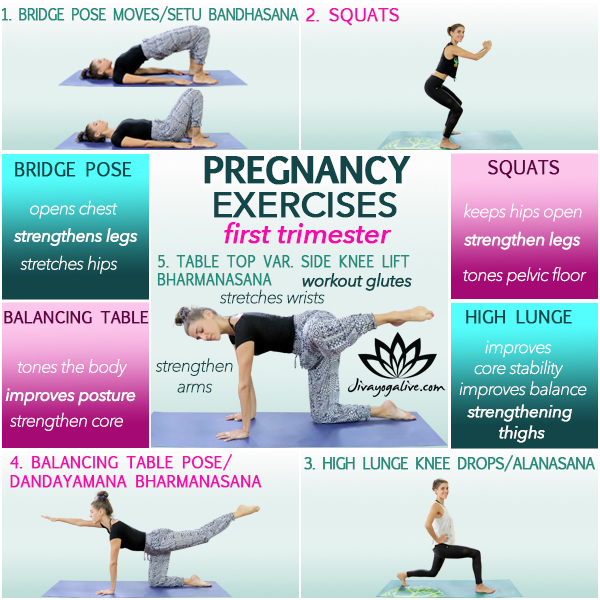 Top 5 First Trimester Pregnancy Exercises Workout Routine Jivayogalive