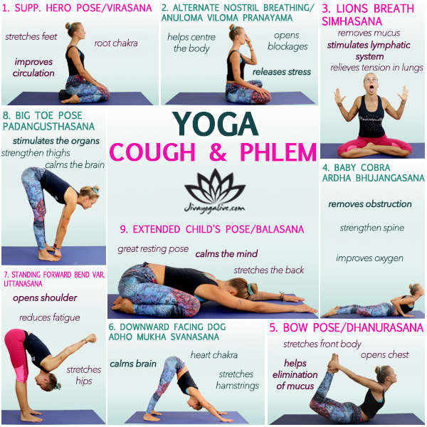 yoga for cough and phlegm Infographic CM108-13