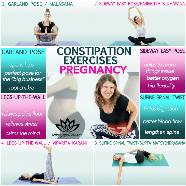 4 Easy Yoga Poses For Constipation During Pregnancy Jivayogalive