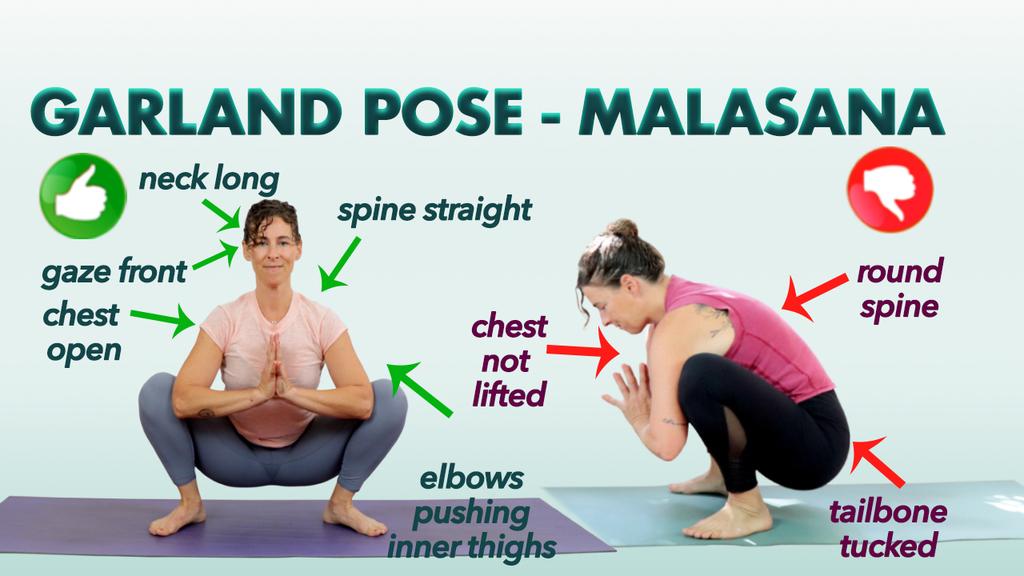 malasana pose Cover