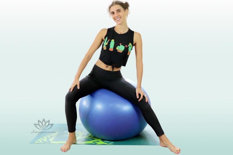 Seated Pelvic Rocks on yoga Ball