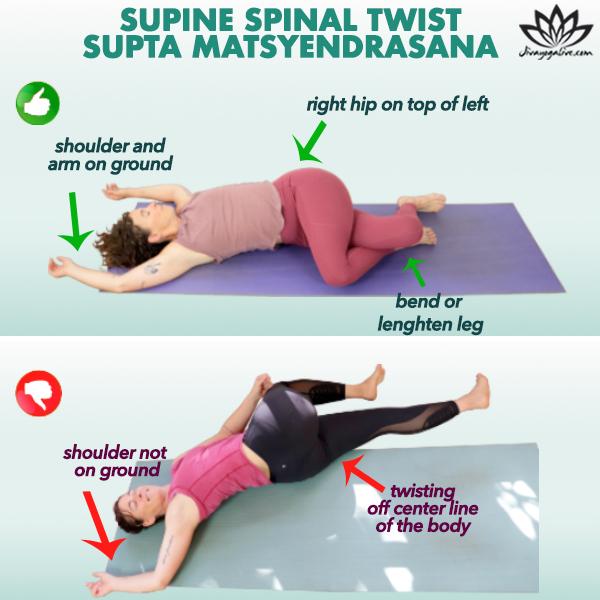 Supine Spinal Twist-Supta Matsyendrasana TN Infographic