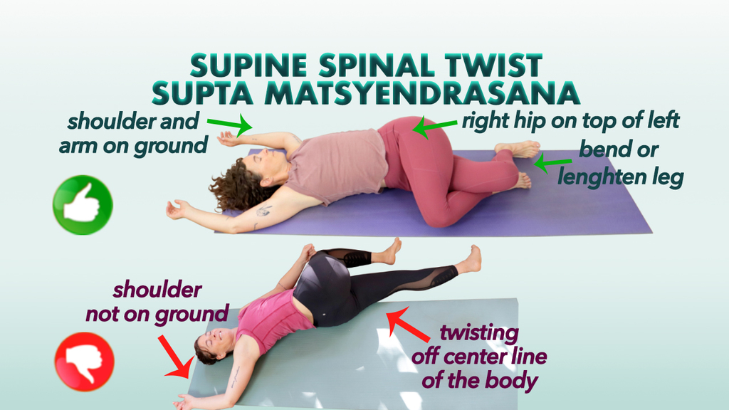 Supine Spinal Twist stretch supta matsyendrasana