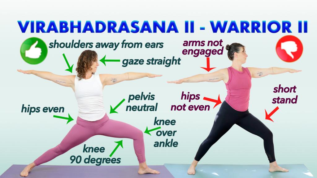 warrior 2 pose virabhadrasana ii